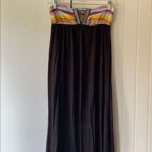 Rip Curl Strapless Maxi Dress